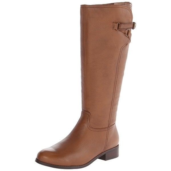 Trotters Brown Women's Shoes 5M Lucky Too Tall Leather Boot
