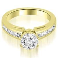 1.70 cttw. 14K Yellow Gold Channel Set Princess Cut Diamond Engagement Ring