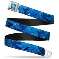 Ariel Daydreaming Full Color Blues Ariel Silhouette Poses Castle Blues Seatbelt Belt