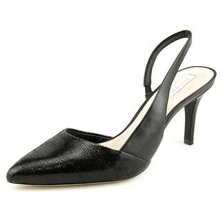 Cole Haan Highline Sling Women Pointed Toe Leather Black Slingback Heel