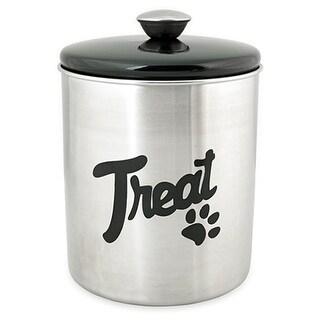 Stainless Steel & Black Top Treat Jar 16oz-