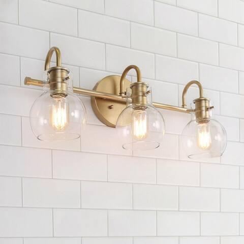 "Modern 3-light Bathroom Gold Vanity Lights Wall Sconces for Powder Room - L22""x W7""x H9"""