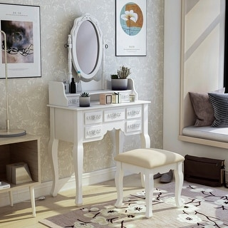 Link to Silver Orchid Pontoppidan 2-piece Vanity Table and Stool Set Similar Items in Bedroom Furniture