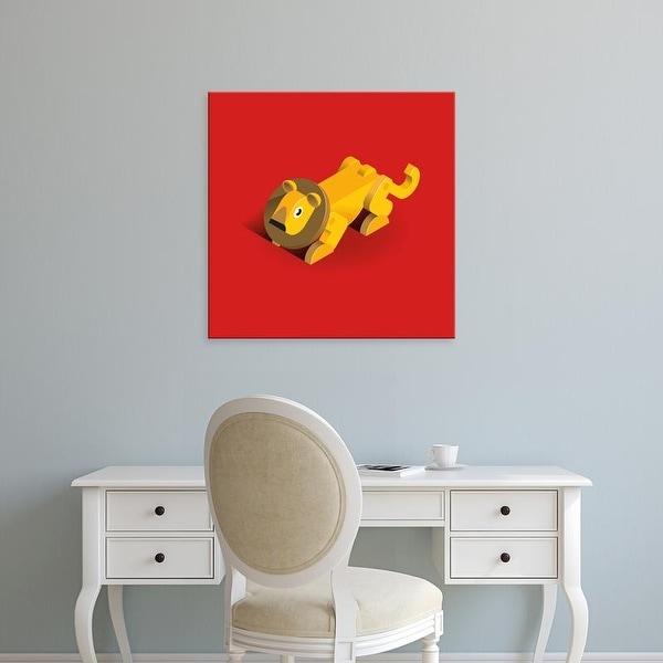 Easy Art Prints Bo Virkelyst Jensen's 'Lion' Premium Canvas Art