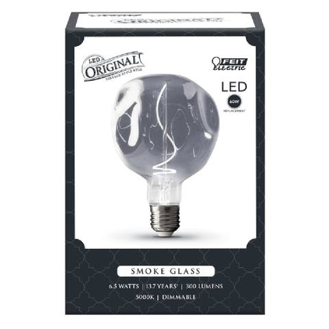 Feit Electric LUNA/7/SMK/FIL Original Vintage Round Filament LED Bulb