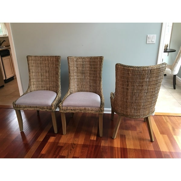 Shop Coaster Company Grey Mahogany Rattan Greco Dining Chairs (Set of 2) - On Sale - Free Shipping Today - Overstock.com - 12529444  sc 1 st  Overstock.com & Shop Coaster Company Grey Mahogany Rattan Greco Dining Chairs (Set ...