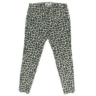 MICHAEL Michael Kors Womens Animal Print Flat Front Casual Pants - 14