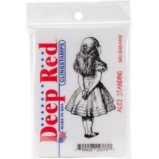 Deep Red Stamps Alice Standing Rubber Cling Stamp - 1.6 x 3.1