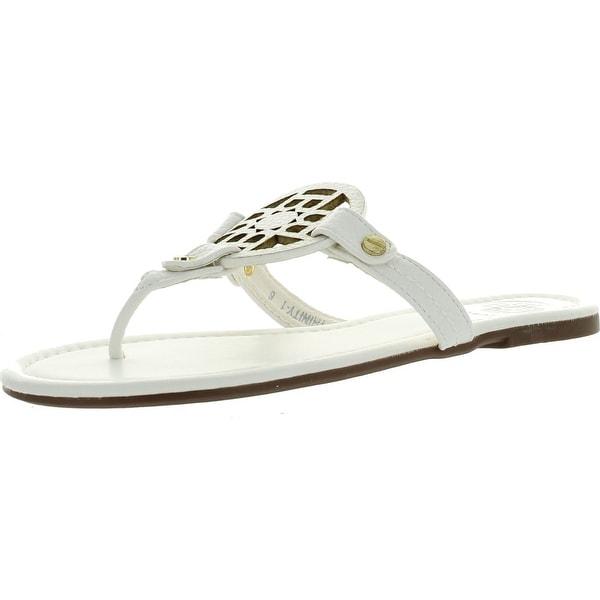 Betani Trinity Women Gladiator Flat Flipflop T-Strap Thong Sandal W/Cutout Emblem
