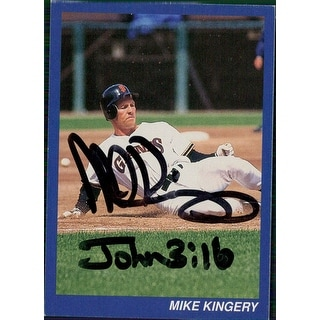 Signed Kingery Mike San Francisco Giants Baseball Card autographed