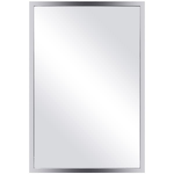 Costway Large Rectangular Wall Mirror Stainless Steel