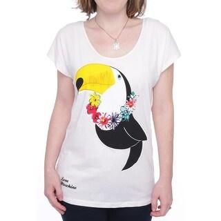 Love Moschino Cap Sleeve Scoop Neck Shirt Women Regular T-Shirt