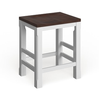 Link to Porch & Den Piedmont White/ Walnut Kitchen Counter Barstool Similar Items in Dining Room & Bar Furniture