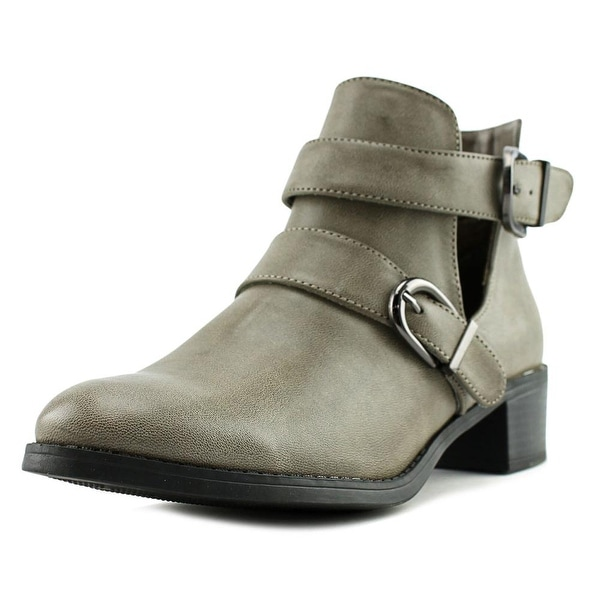 Easy Street Badge Women W Round Toe Synthetic Gray Ankle Boot