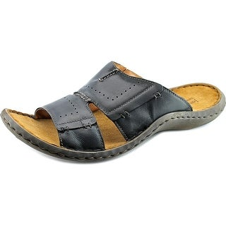 Josef Seibel Larry Open Toe Leather Slides Sandal