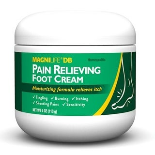 Homeopathic Pain Relief Healing Foot Cream - Soothing & Anti-Itch - 4 Oz - WHITE
