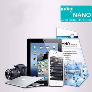 Indigi® Universal Nano Liquid Glass Screen Protector - Easy Install - Scratch Proof - Works with Flat & Curved Displays