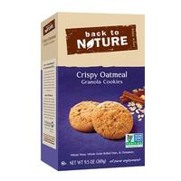 Back To Nature Granola Cookies - Crispy Oatmeal - Case of 6 - 9.5 oz.