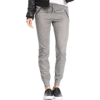 Stoosh Womens Juniors Lounge Pants Heathered Flat Front