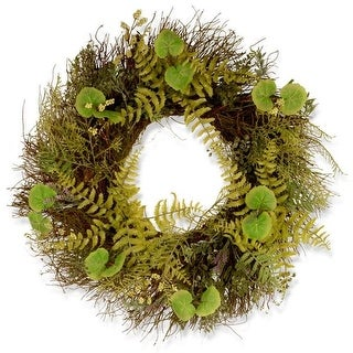 National Tree GAFL30-24WGL 24 in. Fern & Lavender Wreath
