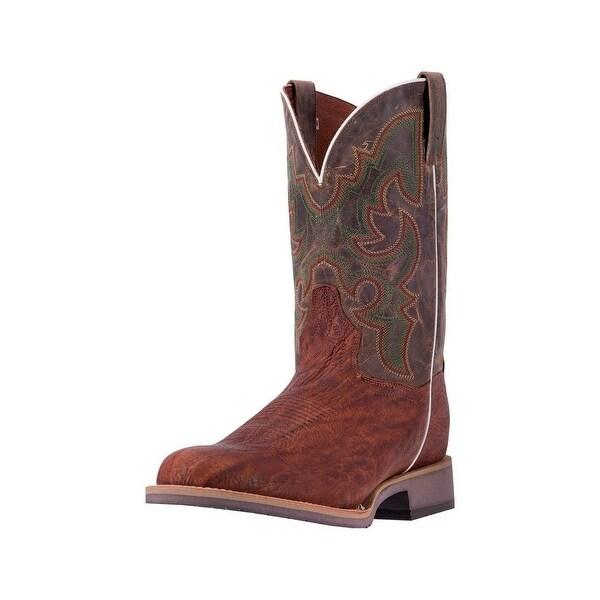 Dan Post Western Boots Mens Odessa Wide Round Stockman Brown