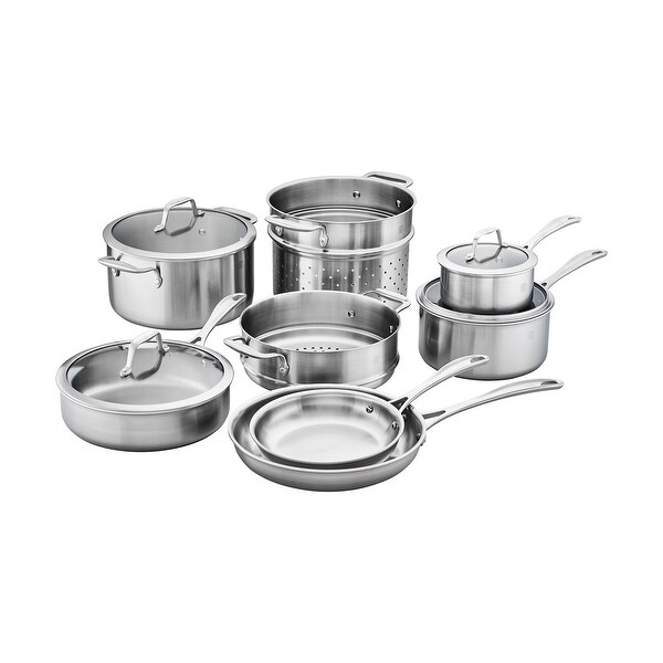 Shop Zwilling Spirit 3 Ply 12 Pc Stainless Steel Cookware