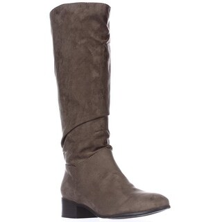 madden girl Persis Flat Knee-High Boots - Taupe