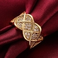 Spiral Gold Curved Modern Ring - Thumbnail 3