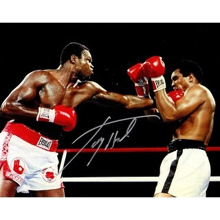 Larry Holmes Boxing Puching Muhammad Ali Action 8x10 Photo