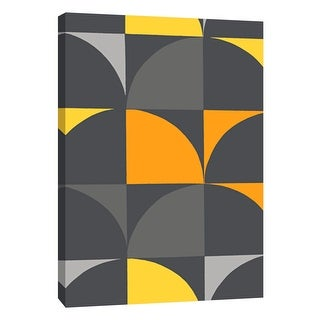 """PTM Images 9-105723  PTM Canvas Collection 10"""" x 8"""" - """"Monochrome Patterns 9 in Yellow"""" Giclee Abstract Art Print on Canvas"""