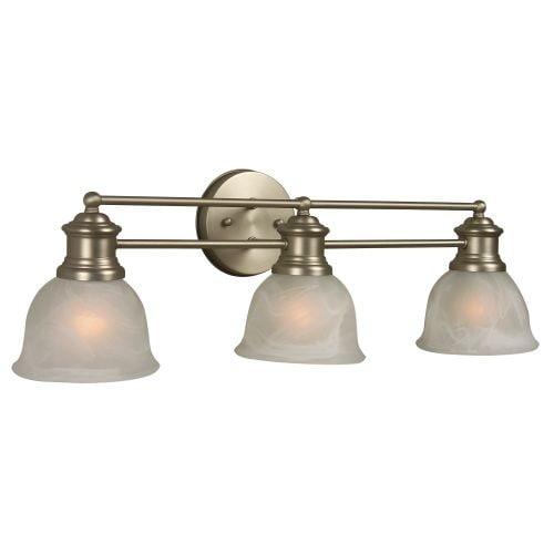 "Craftmade 19822-3 Lite Rail 22"" Wide 3 Light Bathroom Vanity Light"