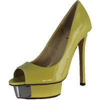 Luichiny Womens Free To Be Pumps Shoes - Pale Yellow