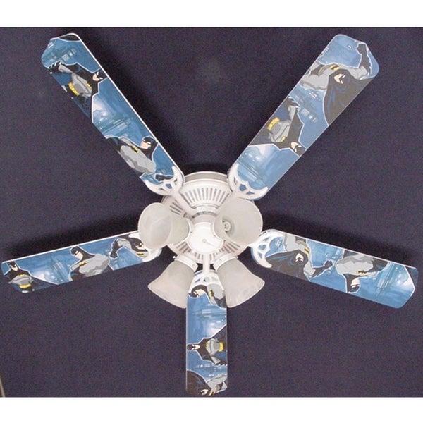 Children's Batman 52in Ceiling Fan Light Kit - Multi