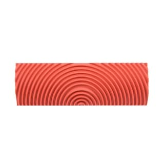 """Wood Grain Tool 4"""" Rubber Square Graining Pattern Stamp Wall Decoration DIY Red - MS22-4 inch"""