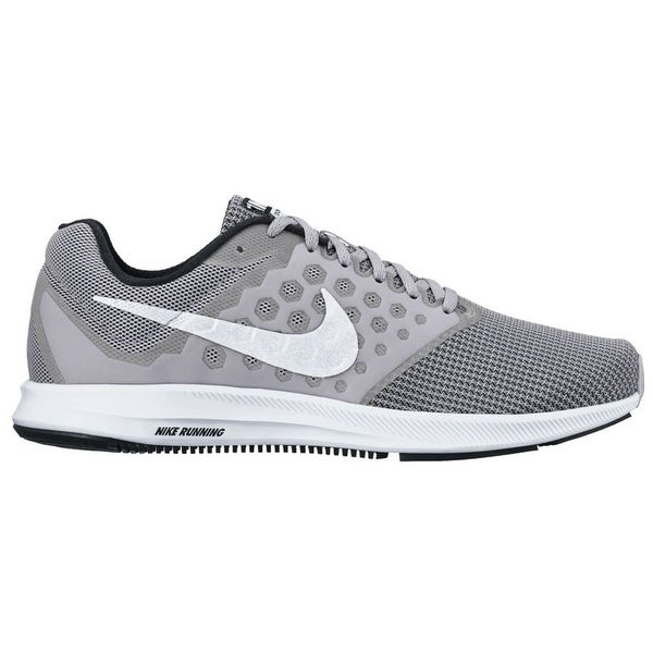 b32c0ca95992 Shop Men s Nike Downshifter 7 Running Shoe Wolf Grey White Black - wolf  grey white black - Free Shipping Today - Overstock - 17755590