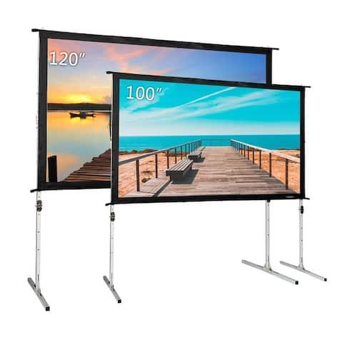 "100""/120'' Fast Folding PVC Screen Outdoor Indoor Portable Projector Screen"