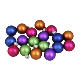 18-Piece Multi-Color Vibrant Glass Ball Christmas Ornament Set 1.25