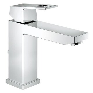 Grohe 23 670 Eurocube 1.2 GPM Deck Mounted Bathroom Faucet with Free Metal Pop Up Drain