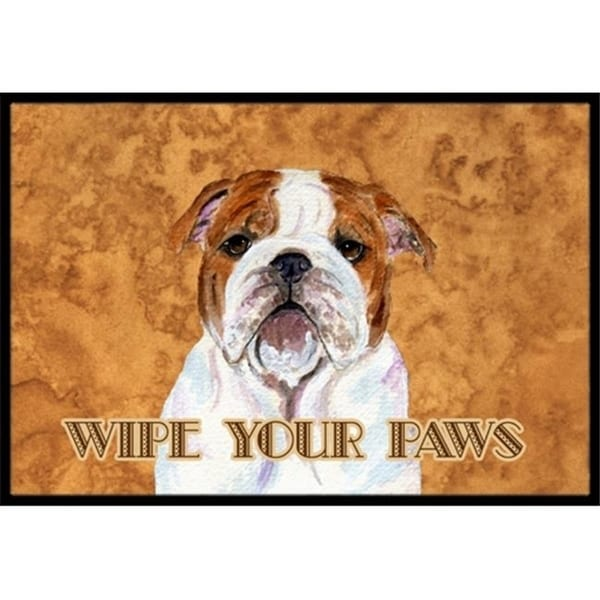 Carolines Treasures SS4896MAT 18 X 27 In. Bulldog English Wipe Your Paws Indoor Or Outdoor Mat