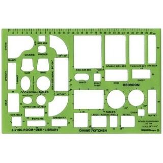 Alvin TD714 Design Templates House Furnishings Template