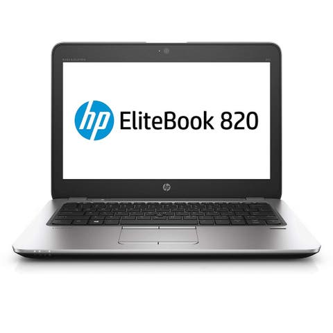 "HP Elitebook 820 G3 12.5"" Refurbished Laptop - Intel Core i5 6300U 6th Gen 2.4 GHz 8GB 180GB SSD Windows 10 Pro 64-Bit - Webcam"