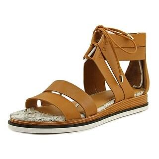 Calvin Klein Caterina Toscana Open Toe Leather Gladiator Sandal