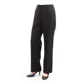 LE SUIT Womens Black Wear To Work Pants  Size: 10