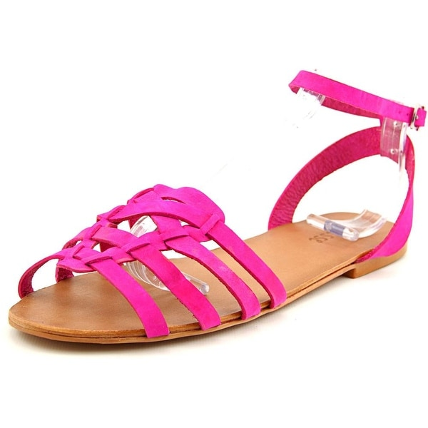 Matisse Paula Women Open-Toe Leather Pink Slingback Sandal