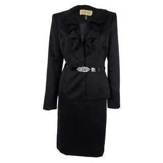 Kasper Women's Ruffle-Trim Skirt Suit - 6