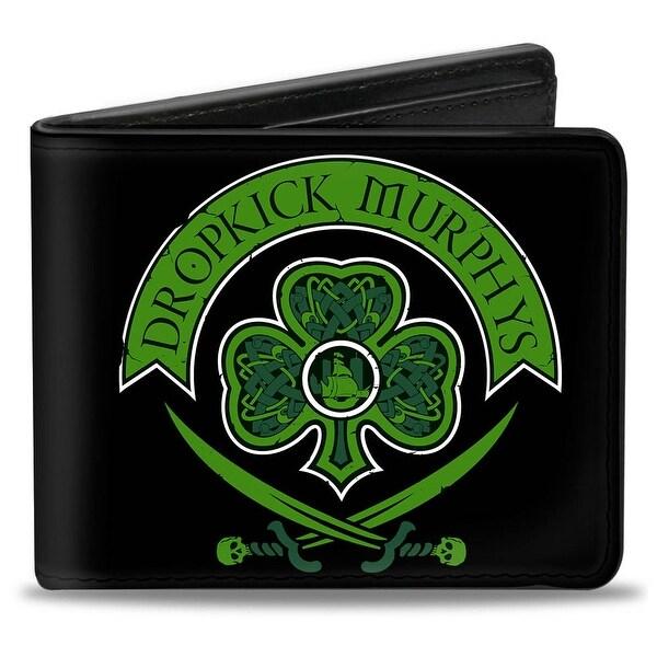 Dropkick Murphys Crest Black Greens Bi Fold Wallet - One Size Fits most