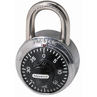 Master Lock 1505D Padlock, Standard Dial Combination Lock, 1-7/8 in. Wide, Assorted Colors
