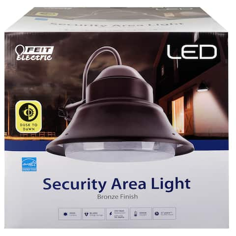 """Feit Electric 73700 Dusk to Dawn LED Security Light Fixture, Bronze, 13"""", 50W"""