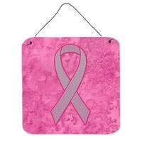 Pink Ribbon for Breast Cancer Awareness Aluminium Metal Wall or