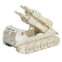 Child Woodcraft Intelligence Puzzle Toy 3D Patriot Missile Tank